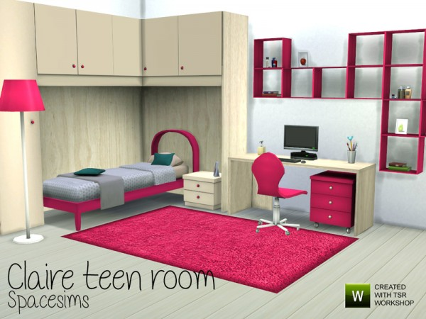 The Sims Resource: Claire teen room by Spacesim