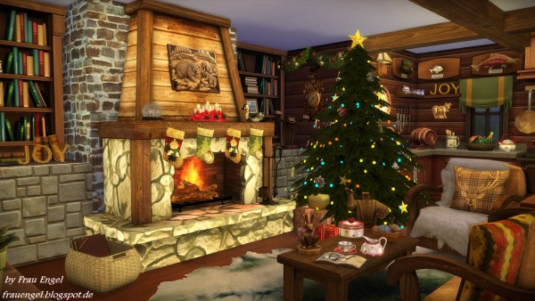Frau Engel Christmas Log Cabin Sims 4 Downloads