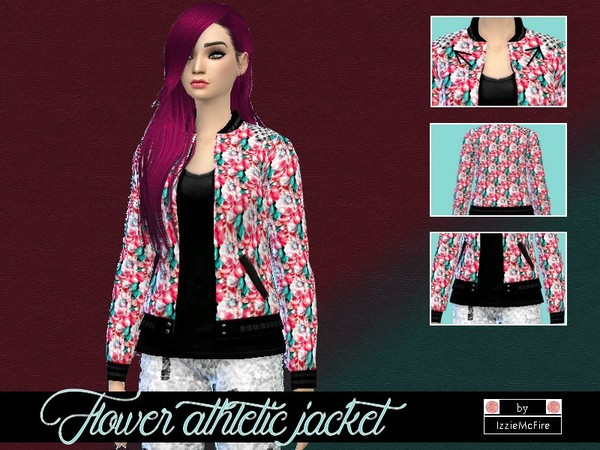 The Sims Resource: Flower athletic jacket by IzzieMcFire