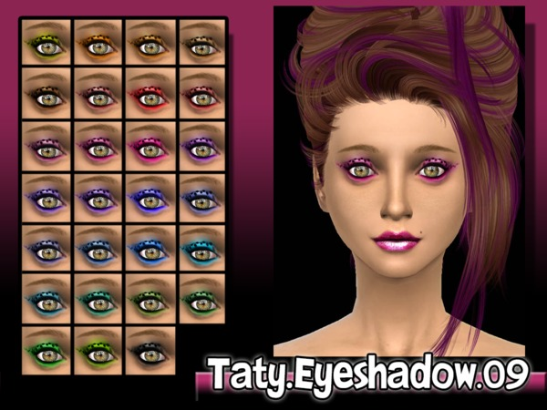 The Sims Resource: Eyeshadows 09 by Taty