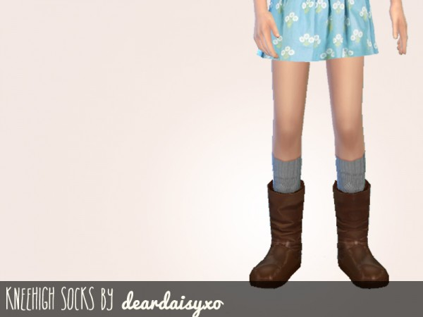 The Sims Resource: Boots, Socks and Tights Set by deardaisyxo