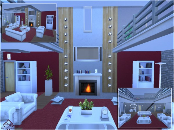 The Sims Resource: Sunset Modern 12 by Devirose