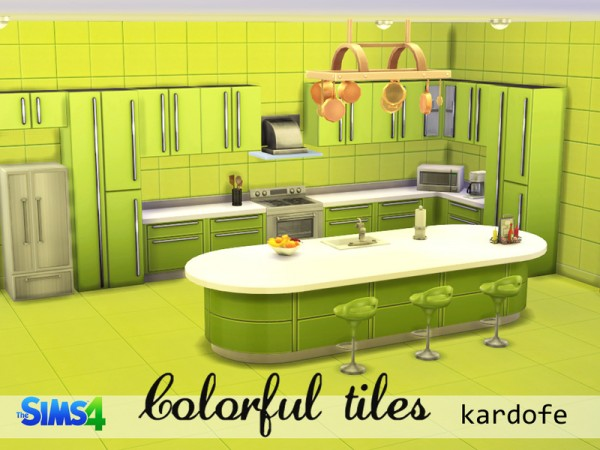 The Sims Resource: Colorful tiles by Kardofe