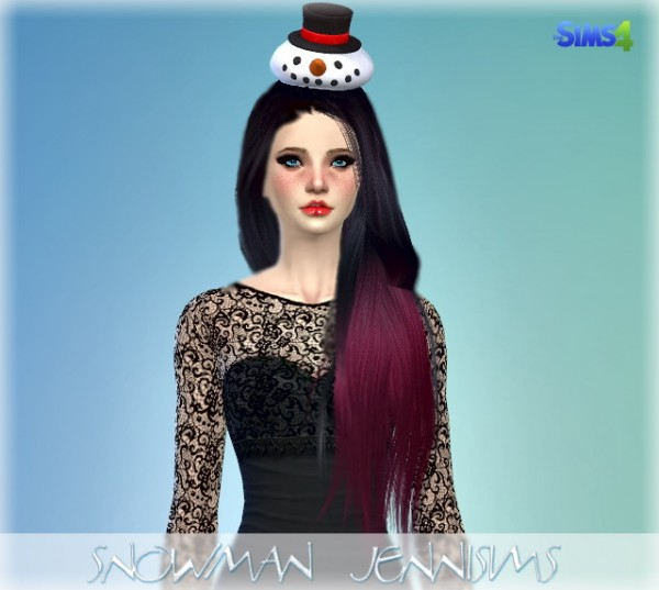 Jenni Sims: New Mesh Accessory SnowMan Hat Christmas
