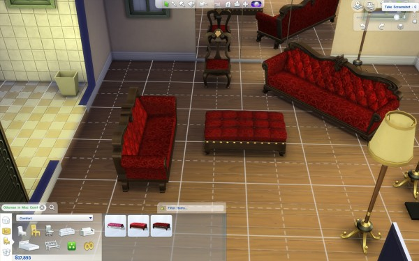 Mod The Sims: Gothic Thistle Furniture Set by KisaFayd