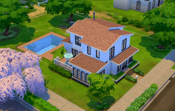 Mod the sims simple house 4 by ra2rd sims 4 downloads for Minimalist house sims 2