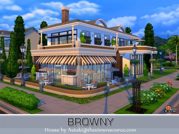The sims resource browny bar and restaurant by autaki