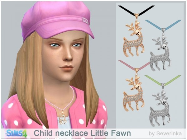 The Sims Resource: Child necklace Little Fawn by Severinka