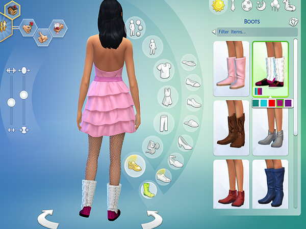 The Sims Resource: Christmas Knitted Boots by Pinkzombiecupcakes