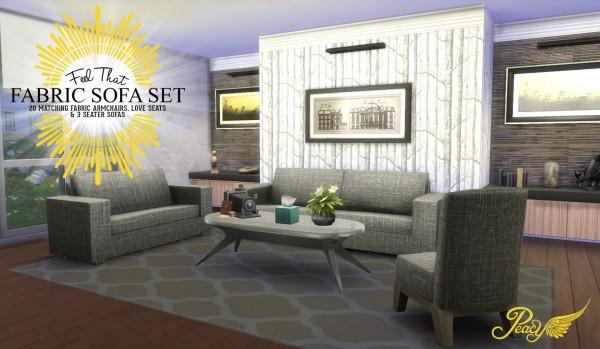 Simsational designs: Feel That Fabric Sofa Set