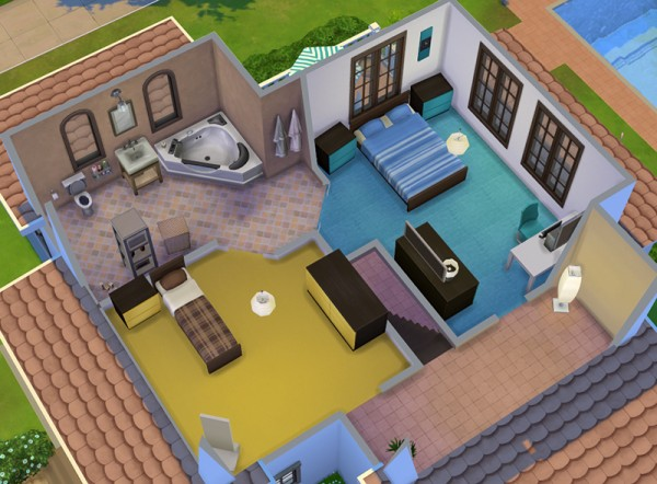 Mod the sims simple house 4 by ra2rd sims 4 downloads for Simple modern house sims 4