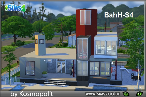 Blackys Sims 4 Zoo: BahH S4 residential house by Kosmopolit