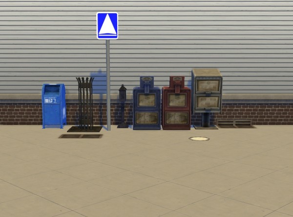 Mod The Sims Liberated Street Deco By Plasticbox Sims 4