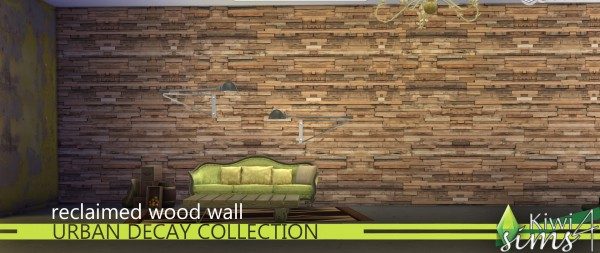 Mod The Sims: Reclaimed wooden walls by kiwisims 4