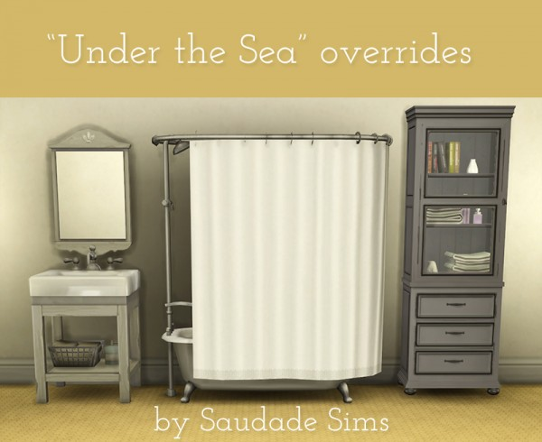 Mod The Sims 11 Plain Under Sea Tub Shower Overrides By SaudadeSims