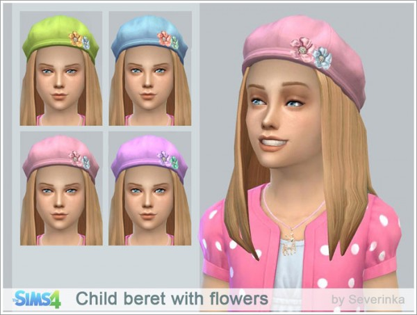 Sims by Severinka: Beret for girls