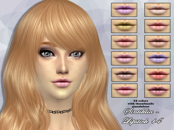 The Sims Resource: Lipstick 14 by Sintiklia