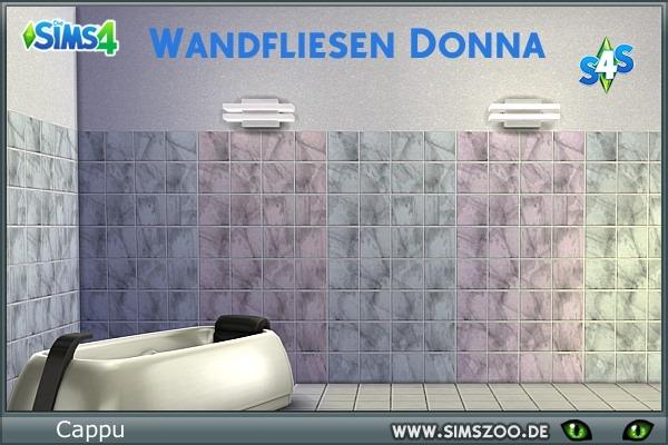 Blackys Sims 4 Zoo: Donna walls by Cappu