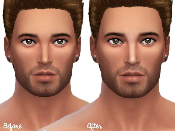 The Sims Resource: Face Highlights by Senpai Simmer