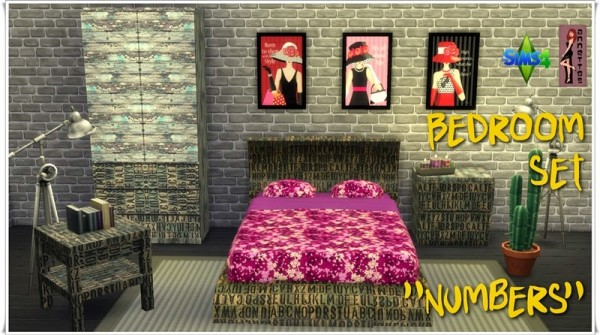 Annett`s Sims 4 Welt: Bedroom Set Numbers