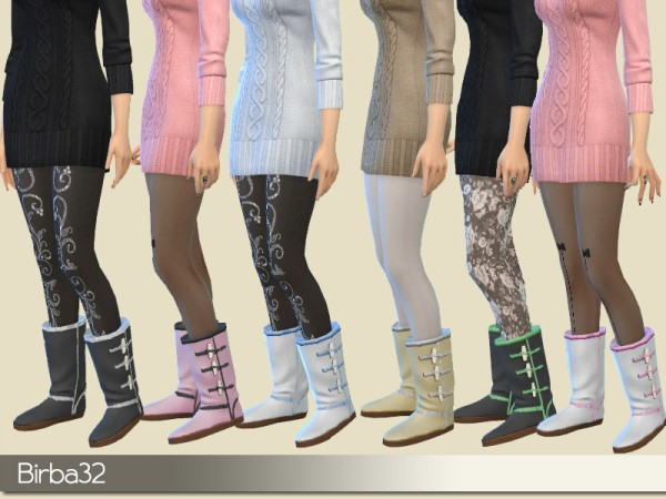The Sims Resource: Winter warm boots by Birba32