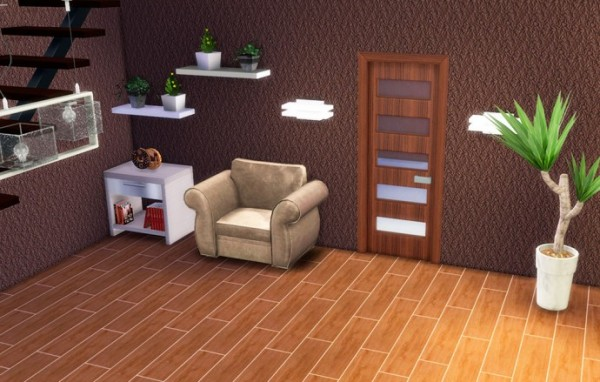 Sims Creativ: Glass door by HelleN