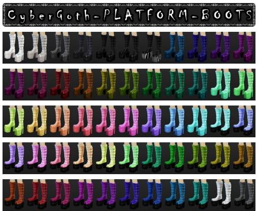 Decay Clown Sims: CyberGoth Platform Boots