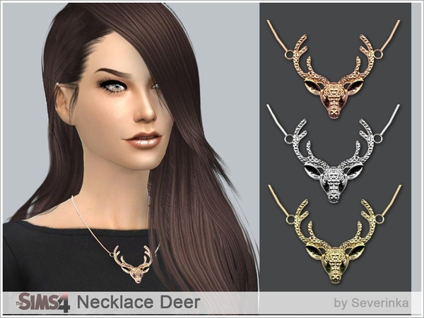 The Sims Resource: Necklace Deer by Severinka