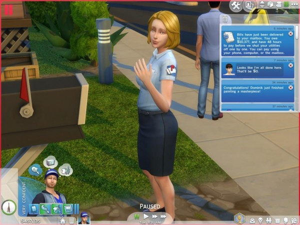 Mod The Sims: Maid & Mailman No Fake Actions by Shimrod101