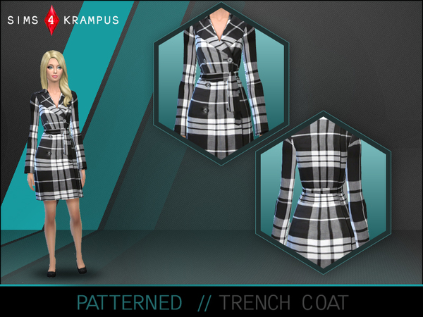 The Sims Resource: Female Trench Coat by SIms4 Krampus