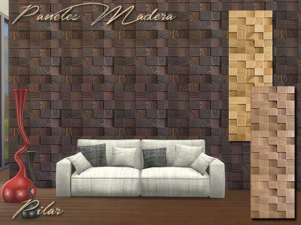 SimControl: Madera walls by Pilar