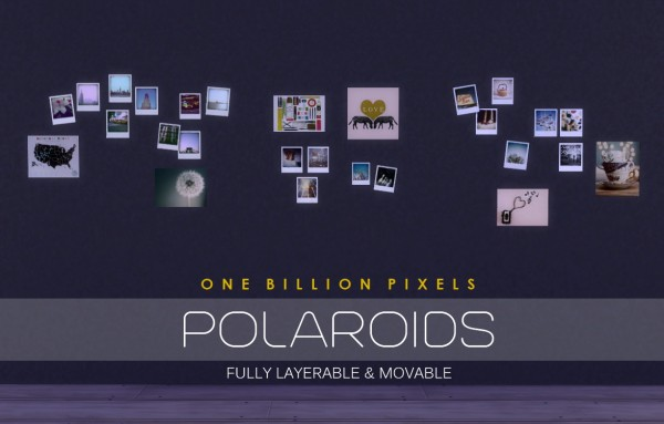One Billion Pixels: Polaroids & Torn Walls