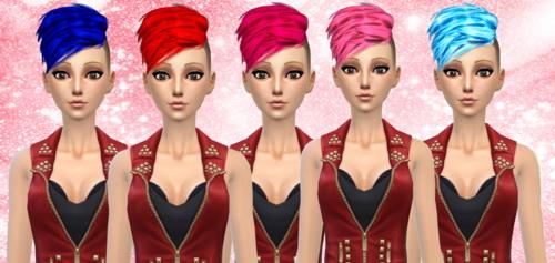 Darkiie Sims 4: Neissy's Half Hawk in 15 colors.