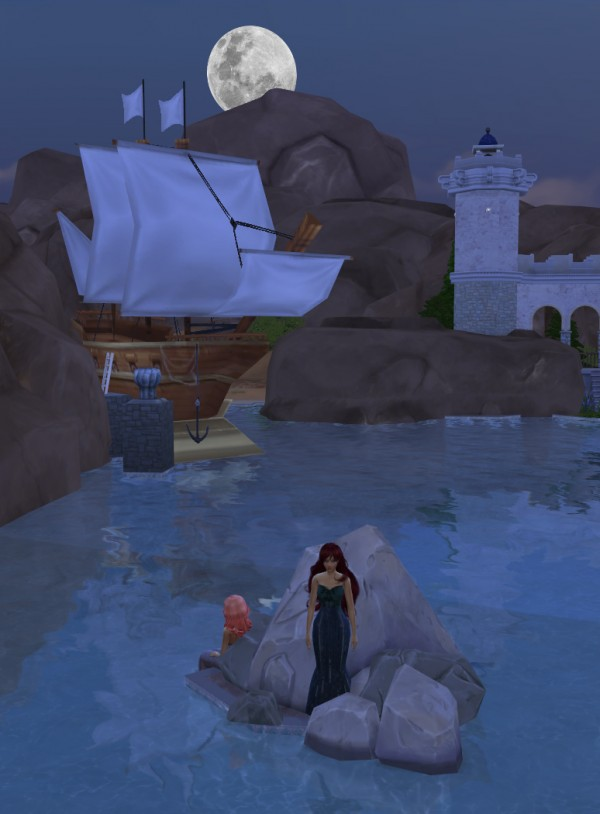 Mod The Sims Mermaid Loved Castle 2 Sizes Available By