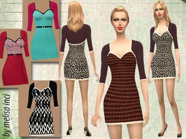 The Sims Resource: Dress With Bolero by Melisa Inci