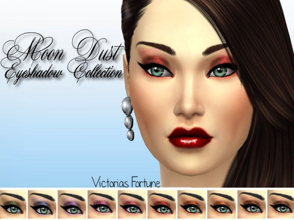 The Sims Resource: Moon Dust Eyeshadow Collection by fortunecookie1
