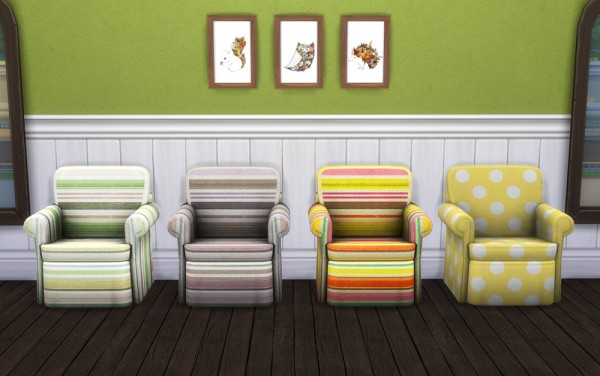 Saudade Sims: 9 new patterned recolors