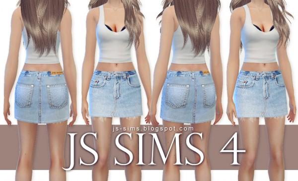 JS Sims 4: Denim Skirts