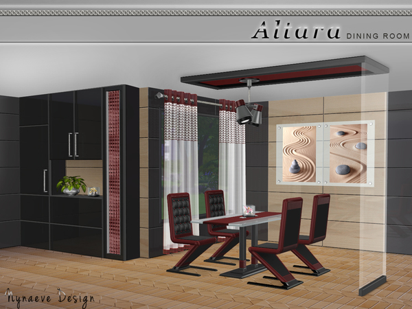 The Sims Resource: Altara Dining Room by NynaeveDesign