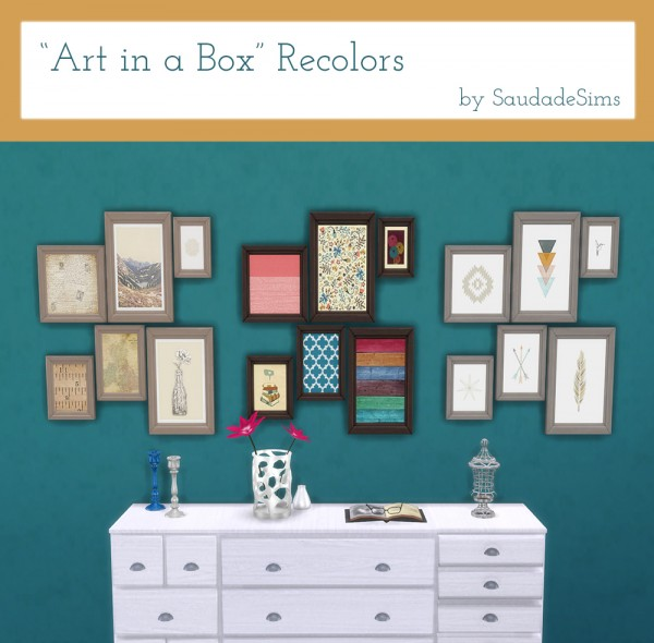 Saudade Sims: Art in a box paints recolors