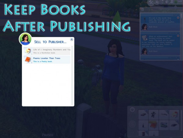 Mod The Sims: Keep Books After Publishing by scumbumbo