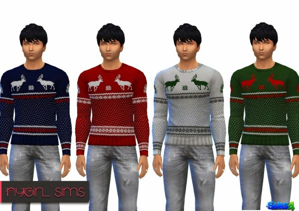 NY Girl Sims: Mens Holiday Sweater