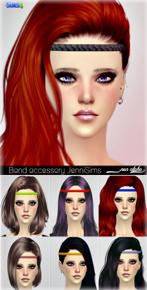 Jenni sims new mesh accessory hair band sims 4 downloads