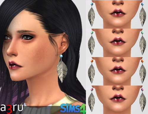 A3RU: Silver Leaf earrings