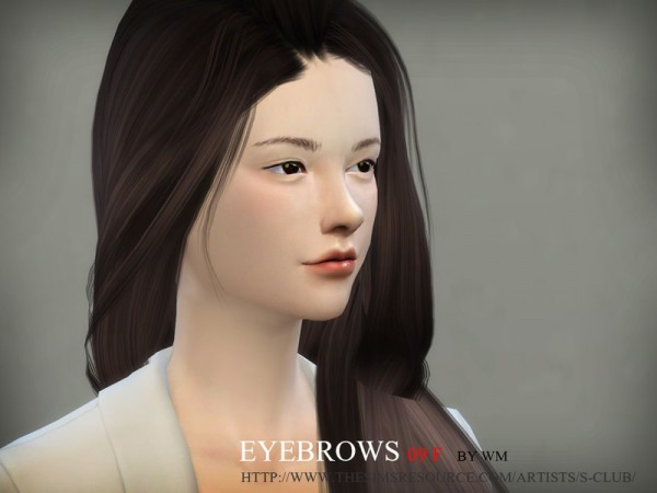 The Sims Resource: Eyebrows 09 by S Club