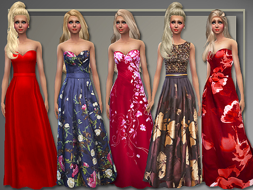 All About Style: Holiday Gowns • Sims 4 Downloads