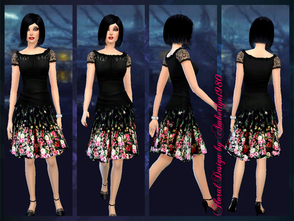 The Sims Resource: Vintage Floral Set by Amberlyn.1980