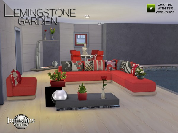 The Sims Resource: Lemingstone Modern Garden by JomSims