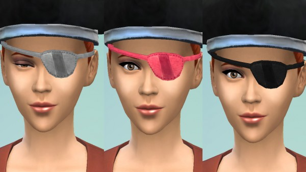 Mod The Sims: Pirate eyepatch conversion by necrodog