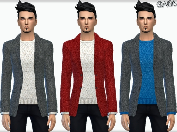The Sims Resource: Greymane Jacket With Sweater by OranosTR